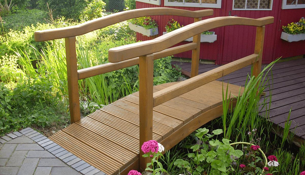 Holzbau Garten Brücke